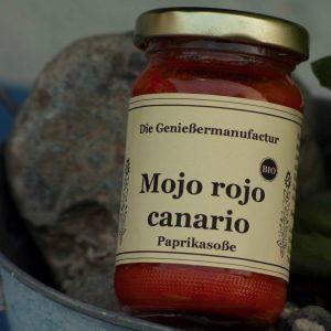 Feinkost Mojo Rojo Canario Bio Paprikasoße im Glas
