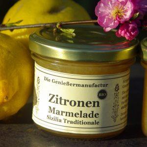 Zitronen Marmelade Sizilia Traditionale Bio im Glas