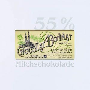Bonnat Milchschokolade mit Mandeln 55 %