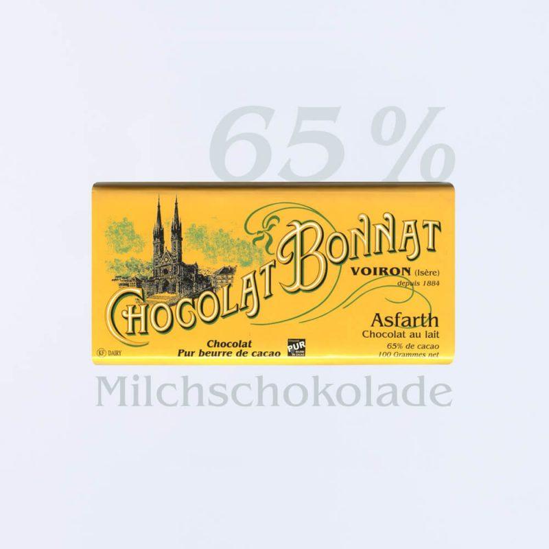 Bonnat Milchschokolade Asfarth 65 %