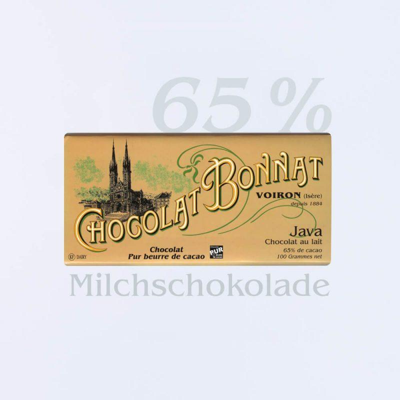 Bonnat Milchschokolade Java 65 %