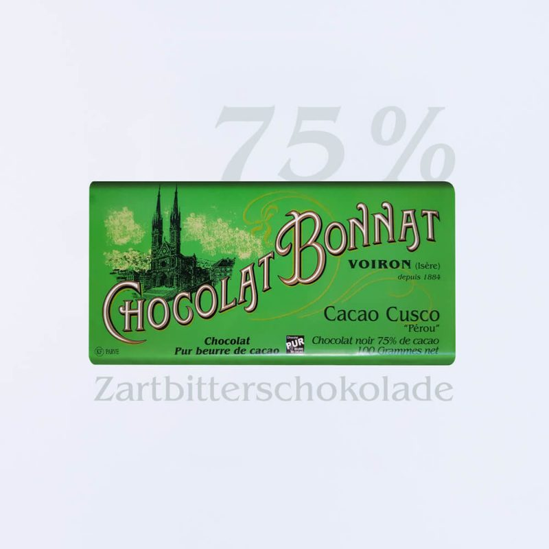 Bonnat Zartbitterschokolade Cacao Cusco 75 %