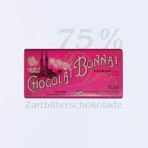 Bonnat Zartbitterschokolade Haiti 75 %