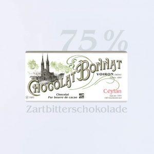 Bonnat Zartbitterschokolade Ceylan 75 %
