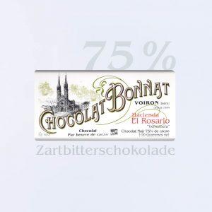 Bonnat Zartbitterschokolade Hacienda El Rosario 75 %