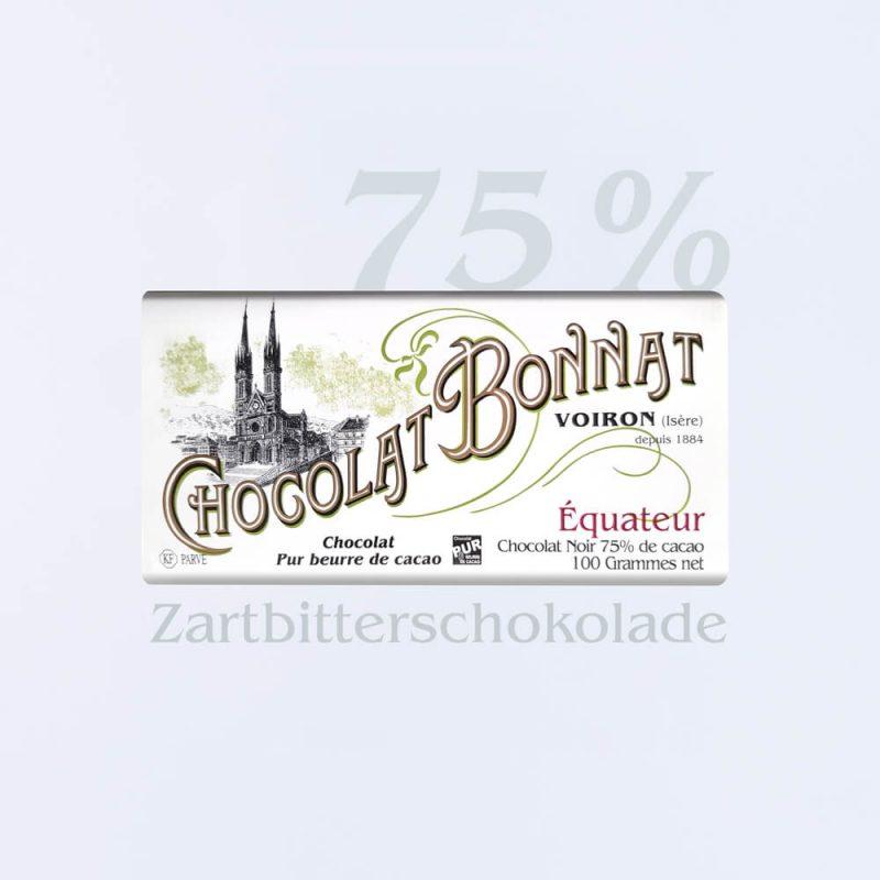 Bonnat Zartbitterschokolade Equateur 75 %