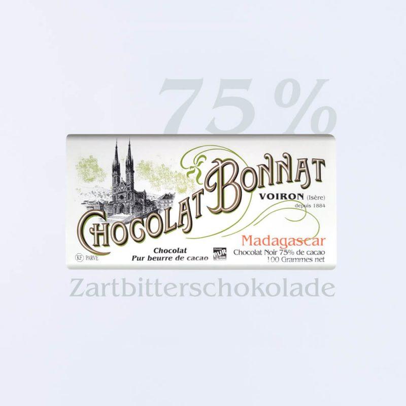 Bonnat Zartbitterschokolade Madagascar 75 %