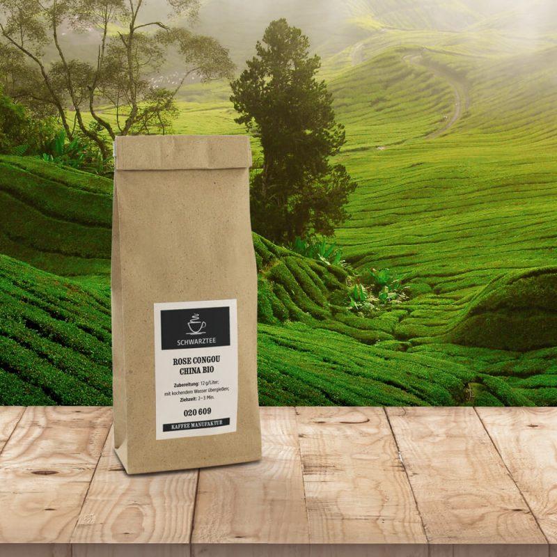 Verpackung Schwarztee - China Rose Bio