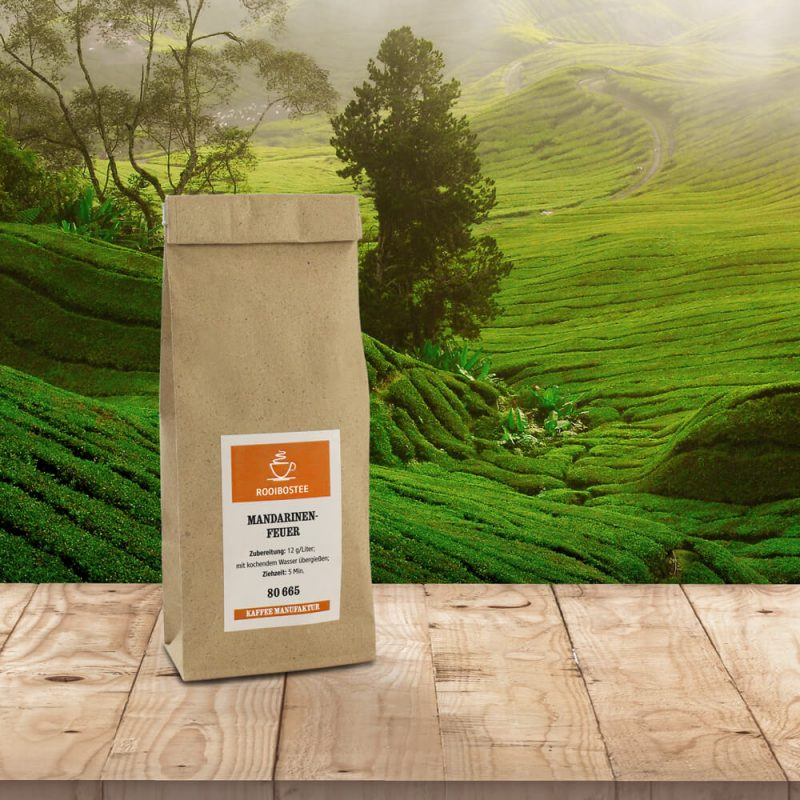 Verpackung Rooibostee - Mandarinenfeuer