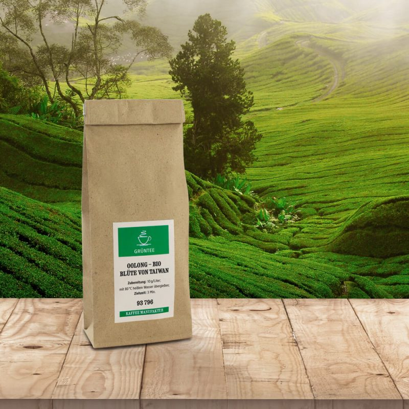 Verpackung Grüntee - Oolong Taiwan Bio