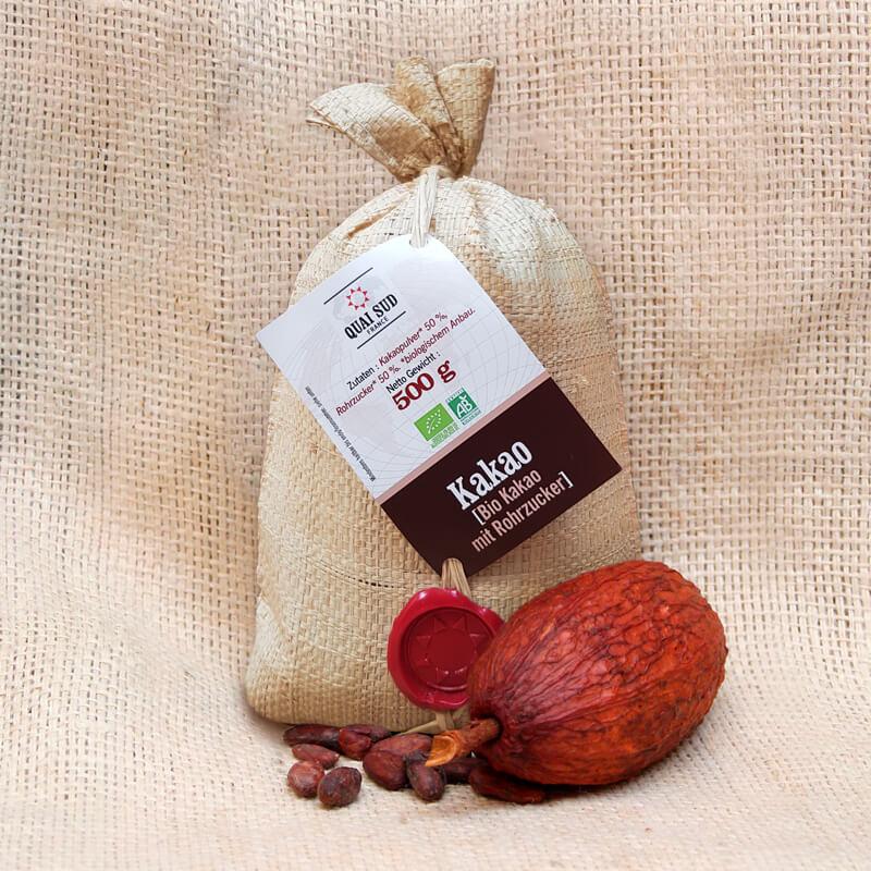 Quai Sud Bio Kakao mit Rohrzucker im Raffiabeutel